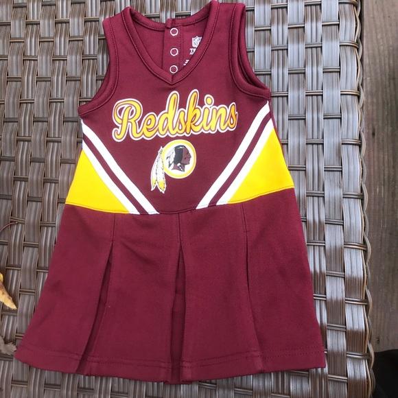 Washington Redskins baby cheerleading dress-Sz 18M.  M 5b96bb228ad2f9b04cff8375 e16f70775